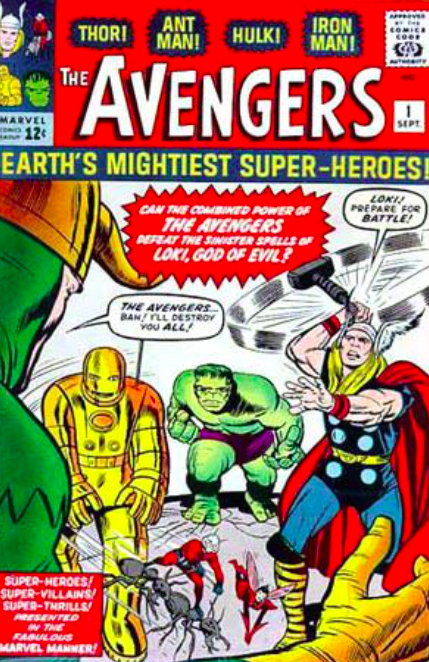 Jack Kirby & Dick Ayers   Origins: Avengers #1   Giclee on Canvas  30 x 20 in.  Edition of 50  Signed by Stan Lee