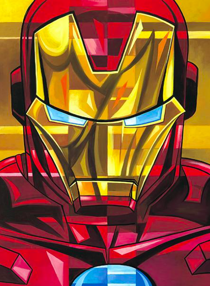 Tim Rogerson   Tim Rogerson: Iron Man   Giclee on Canvas  30 x 20 in.  Edition of 50  Signed by Tim Rogerson
