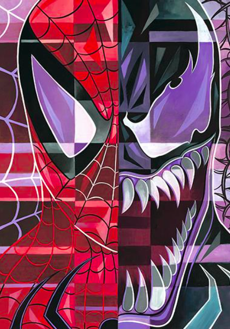 Tim Rogerson   Tim Rogerson: Spider-Man/Venom   Giclee on Canvas  30 x 20 in.  Edition of 50  Signed by Tim Rogerson