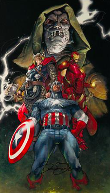 Simone Bianchi   Unite   Giclee on Canvas  34 x   19 in.  Edition of 50  Signed by Simone Bianchi and Stan Lee