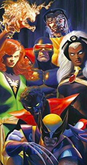 Alex Ross   X-traordinary   Giclee on Canvas  36 x 18 in.  Edition of 100  Signed by Alex Ross