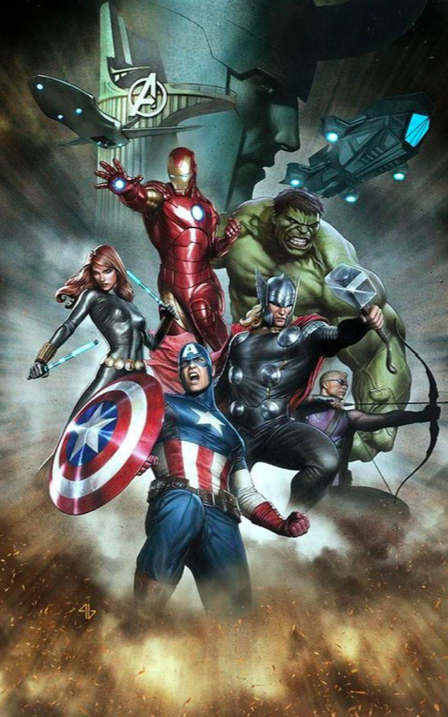 Adi Granov   Avengers   Giclee on Paper  22 x 15 in.  Edition of 250  Signed by Stan Lee