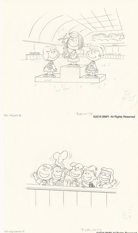 A Golden Performance   Two Original Production Drawing used for Publicity   INQUIRE
