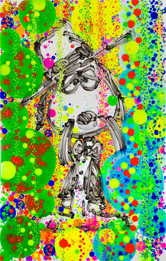 Swiss Herb Bubble Bath   2018  Mixed Media on deckled paper (giclee and silkscreening)  Paper size 44 x 29.5 in / image size 40 x 25.5 in.  Edition of 125