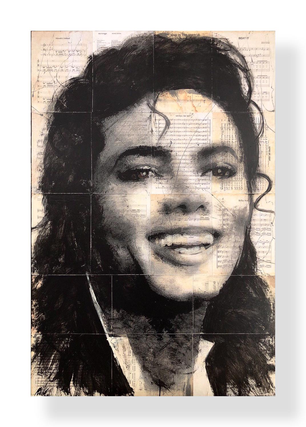 MJ   Acrylic and Latex on Masonite Board  32 x 48 in.