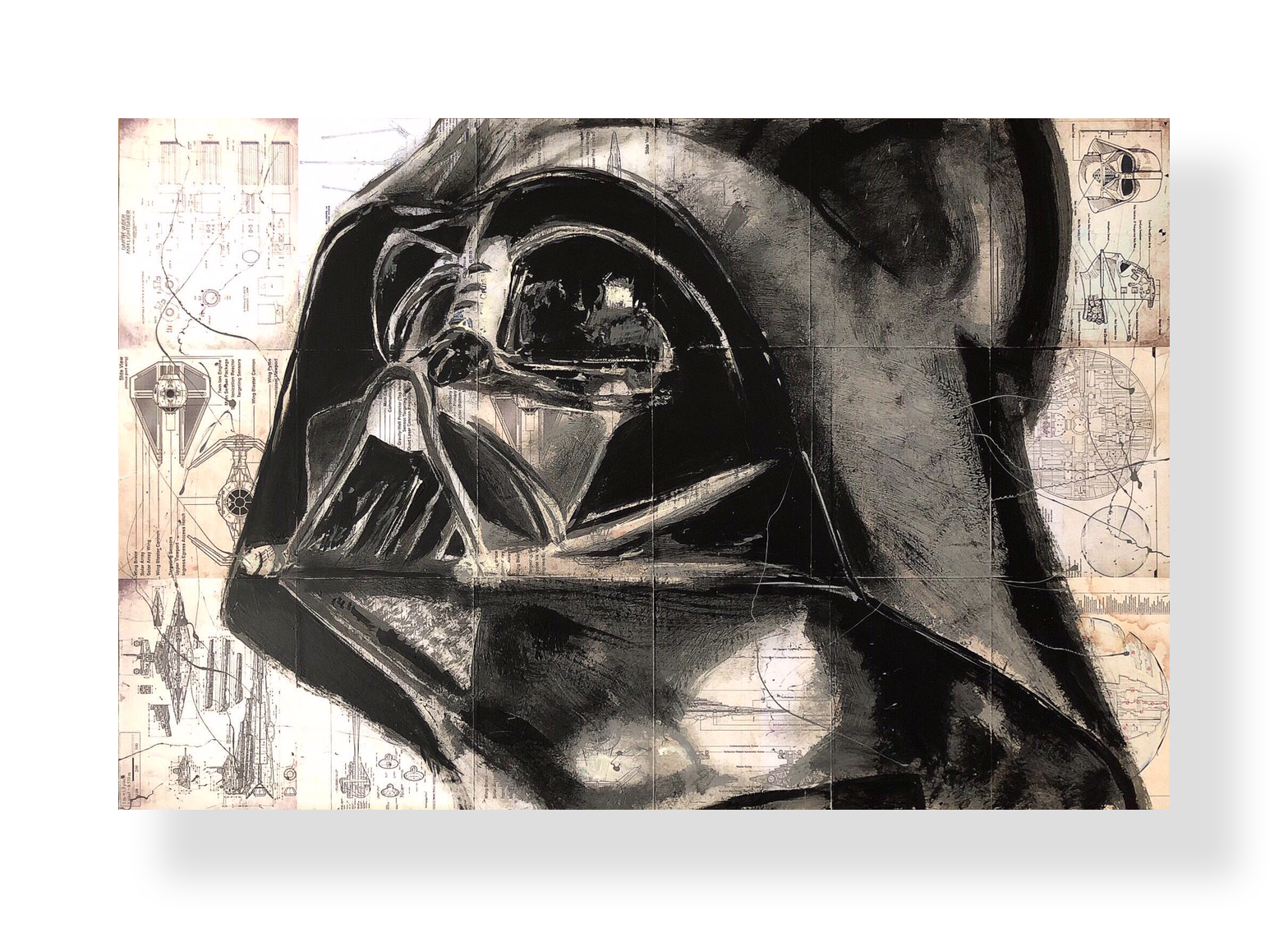 Vader   Acrylic and Latex on Masonite Board  24 x 48 in.