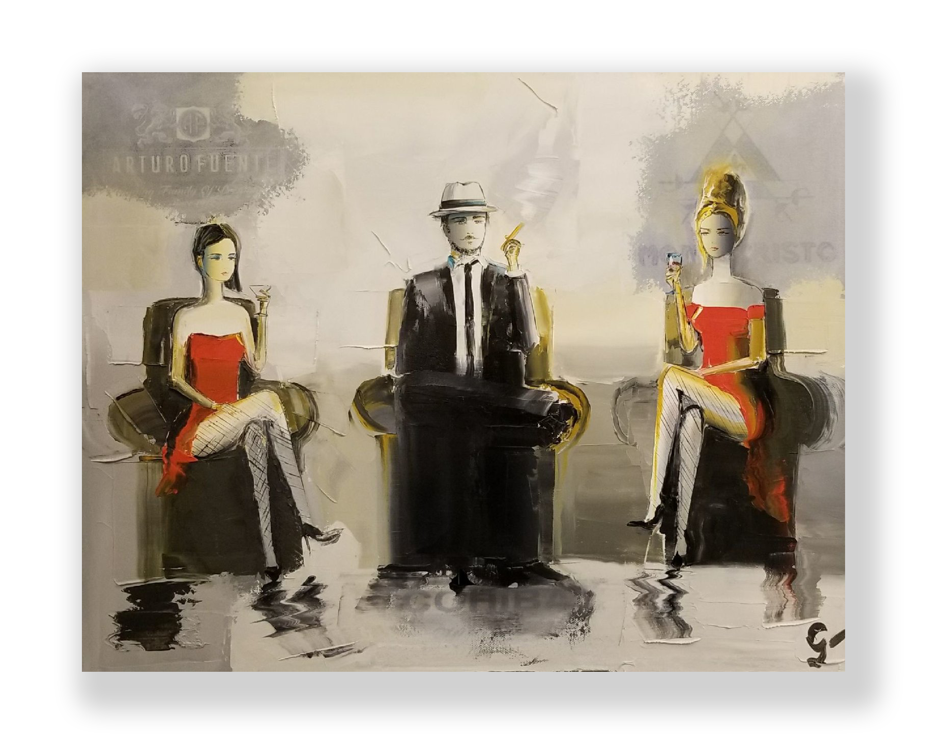 Cigar Lounge   Oil on Canvas  16 x 20 in.