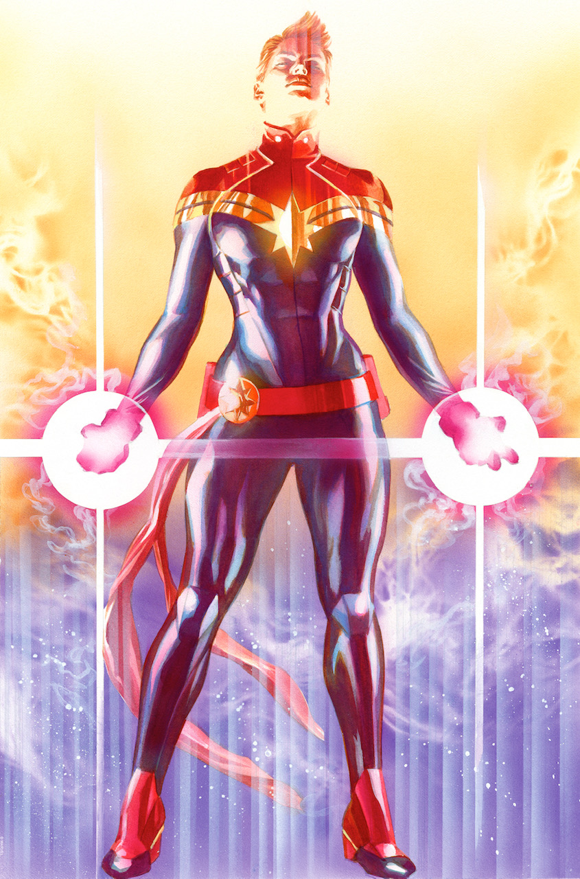 Mighty Captain Marvel   2019  22 x 14 inches  Edition of 100  *Signed ny Alex Ross