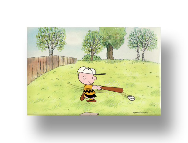 "Charlie Brown From ""It's Spring Training, Charlie Brown""  Original Production Cel SetUp with Animator's original production drawing(s)   INQUIRE"