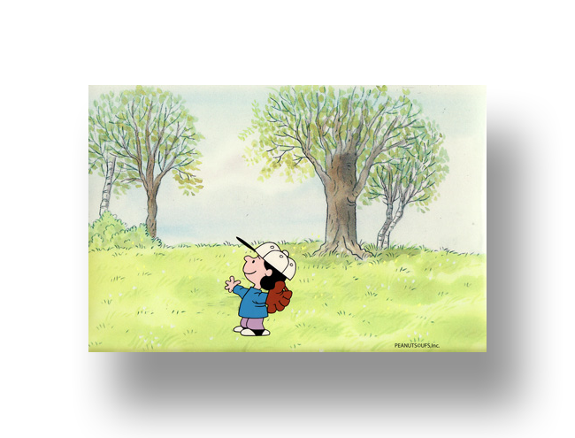 "Lucy From ""It's Spring Training, Charlie Brown""  Original Production Cel SetUp with Animator's original production drawing(s)   INQUIRE"