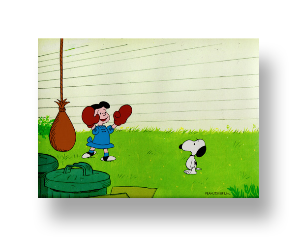 "Lucy and Snoopy in ""Snoopy Come Home""  Original Production Cel(s) with Animator's original production drawing(s)   INQUIRE"