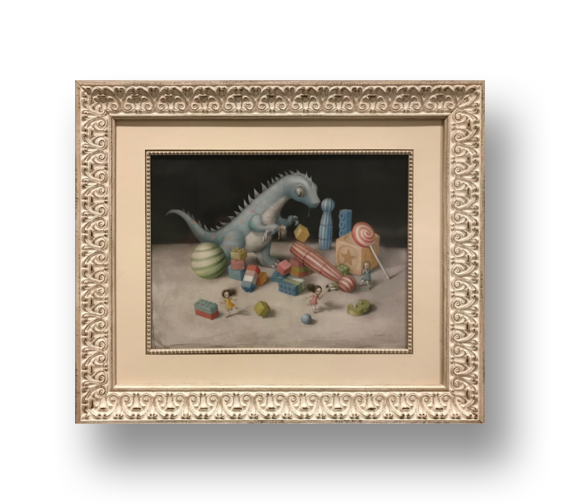 It's My Party   Nicoletta Ceccoli Original painting on heavy stock arches watercolor paper  14 x 19 inches (window size) 24 x 29 inches framed dimensions   INQUIRE