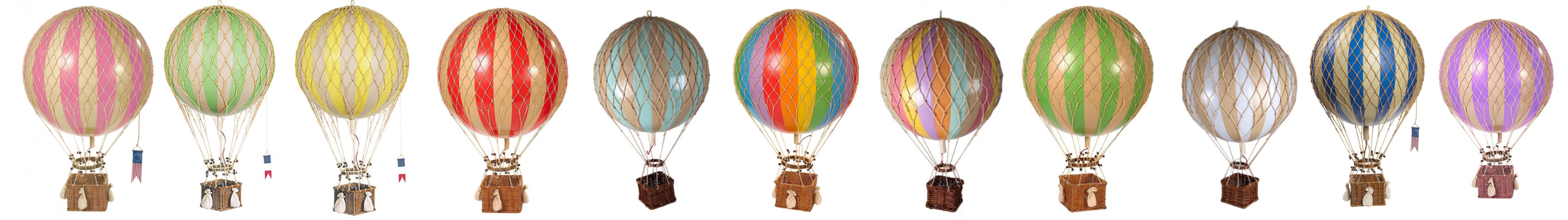 Hot Air Balloons Various sizes and colors available, please inquire   INQUIRE