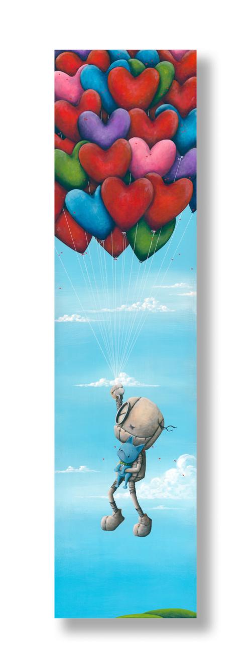 """UPward and Onward""   2019 Acrylic on Board 36 x 12 inches  INQUIRE"