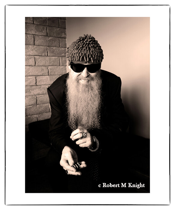 """""""Dice""""    Robert Knight Image of Billy Gibbons 2012 Las Vegas, NV Photograph 20 x 24 inches Edition of 150     INQUIRE"""
