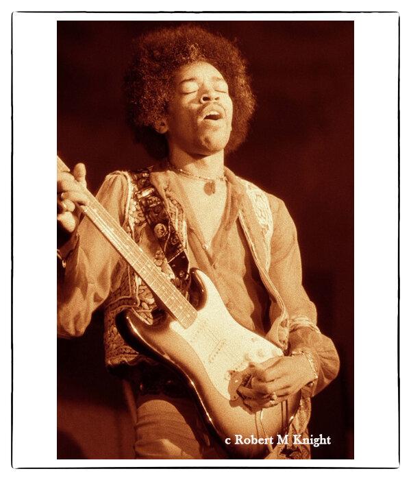 """Winterland 1""    Robert Knight Image of Jimi Hendrix 1968 San Francisco, CA Photograph 20 x 24 inches Edition of 150     INQUIRE"
