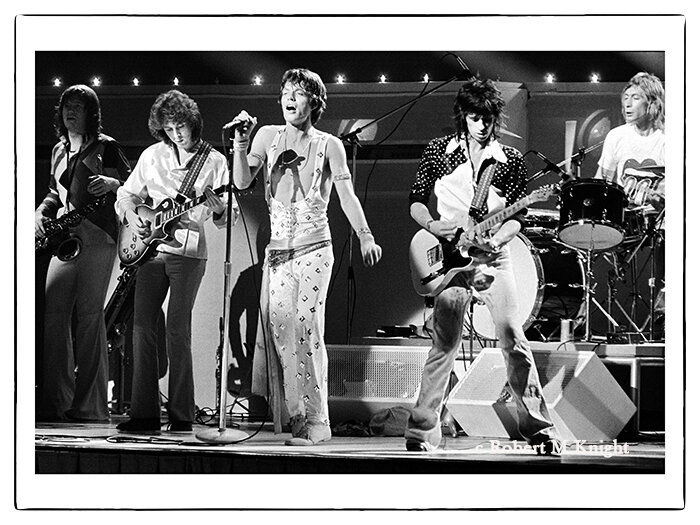 """""""Hawaii""""   Robert Knight Image of The Rolling Stones 1973 Honolulu, Hawaii Photograph 30 x 40 inches Edition of 99     INQUIRE"""