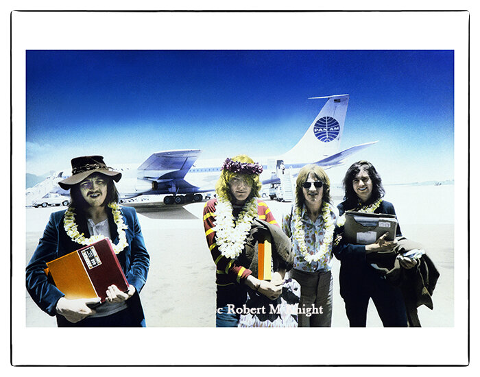 """""""Master Tapes Led Zep II""""   Robert Knight Image of Led Zeppelin 1969 Honolulu Airport 30 x 40 inches Edition of 99    INQUIRE"""