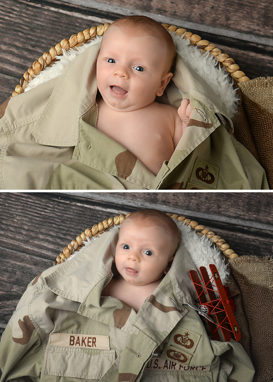st-louis-newborn-photographer-four-fireflies-photography-7-week-boy-with-dad-air-force-jacket-and-plane.jpg