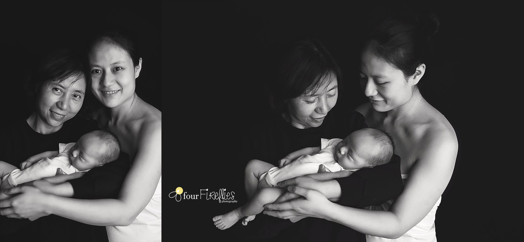 st-louis-newborn-photographer-baby-with-mom-and-grandma-in-black-and-white.jpg