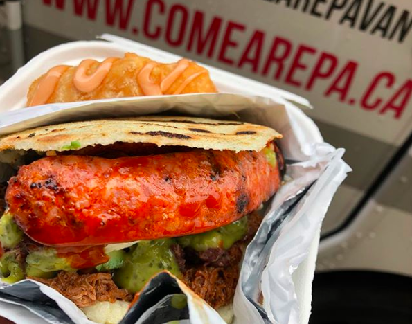 COME AREPA  @comearepavan  Dedicated to serving tasty Venezuelan cuisine, Come Arepa focuses on one of the most important dishes in Venezuela, the arepa, a gluten-free cornbread sandwich stuffed with a variety of meats, cheeses, veggies, and salsas. Are you drooling yet?