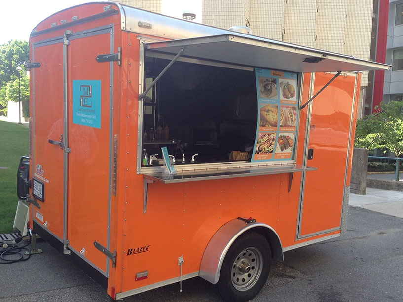 MEAT 2 EAT  Find this bright orange food truck serving up Mediterranean cuisine catered to families, vegetarians and meat lovers. Doesn't matter who you are, you will find something you like at Meat2Eat.