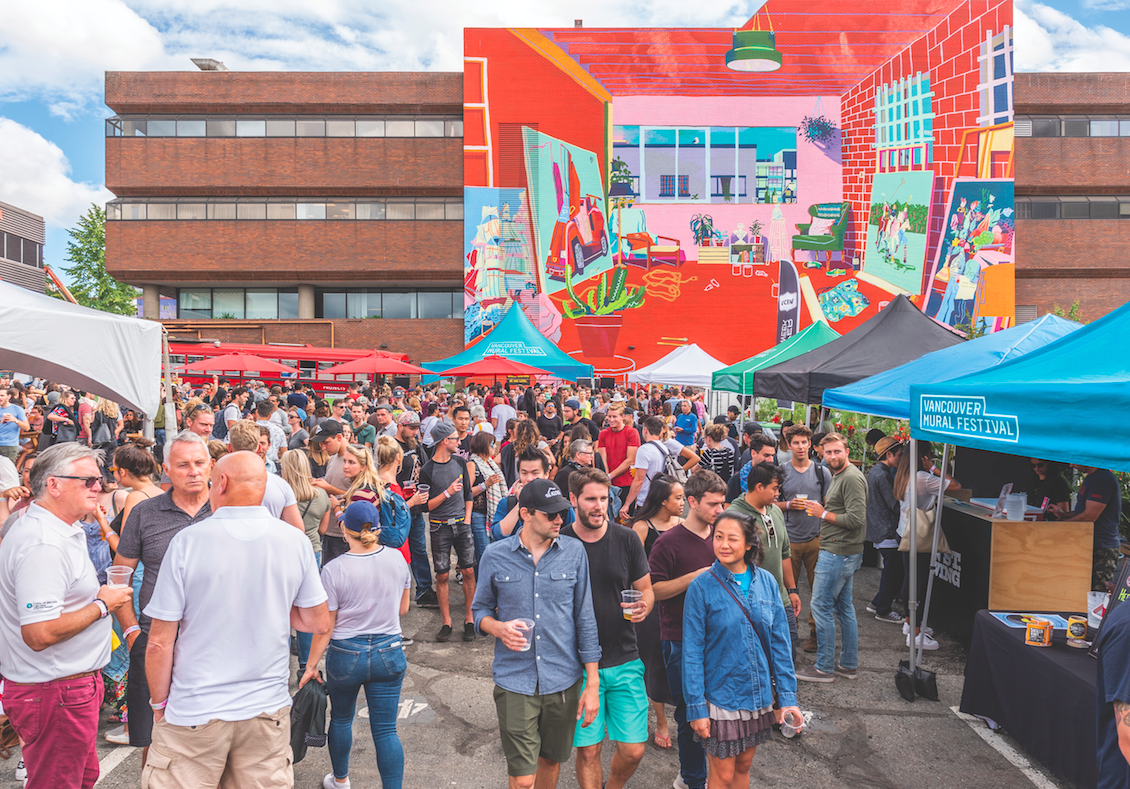 VANCOUVER MURAL FESTIVAL RETURNS AUGUST 1-10 WITH AN EXPANDED 10 DAY PROGRAM OF EVENTS INCLUDING THE ALWAYS-POPULAR MOUNT PLEASANT STREET PARTY!     ANNOUNCING VMF 2019 ARTISTS AND PROGRAMMING!     June 19, 2019  (Vancouver, BC) - Create Vancouver Society with support from Canadian Heritage, the Province of British Columbia, BC Arts Council and Mount Pleasant BIA, proudly announce the  4th Annual Vancouver Mural Festival from August 1-10th . Drawing crowds of 120,000+ to the streets of Mount Pleasant, the Vancouver Mural Festival has fast become one of the city's most popular public celebrations. This year it returns with an expanded 10-day program of events leading up to the massive  Mount Pleasant Street Party on Saturday, August 10 from 12-7pm .     Highlights of this year's 10-day programming  include: Artists painting 25+ new murals in Mount Pleasant, Gallery Shows, 2-day Flash Tattoo, Thrive Talks, SFU Public Square, Nach'i'm: A Night of Indigenous Femme Excellence, Mural Tours, Super Snag Live Art Raffle, Open Air Movie Theatre, Sunday Special Pride Party, Live Music and more!   Saturday's  MOUNT PLEASANT STREET PARTY  -- the festival's main attraction -- takes over 14 city blocks in and around Main and Broadway, transforming the Mount Pleasant neighbourhood into a dynamic, living art space. Free, family-friendly, and full of activities for everyone, the August 10 street party features the highly-anticipated debut of 25+ new Murals (on top of the area's 120+ murals from past years), Live and Interactive Art, Live Music, Skate Jam, Dance Battles and Workshops, Holden Courage Memorial Graffiti Jam, Family Art Zone, Community Painting, Markets, Food Trucks, 4 (family-friendly) Beer Gardens, 25+ Breweries, Public Disco Dance Party and more!    This year's Festival once again brings together  ARTISTS  across diverse disciplines ranging from fine art to street art to painting, carving, weaving, graphic design, animation and illustration. Attracting over 800 applications, the 2019 curated artist lineup includes internationally-renowned muralist/street artists from around the globe such as ONEQ (Japan), SatOne (Germany), Medianeras (Argentina), and Fintan Magee (Australia), plus acclaimed local/regional artists such as KC Hall and Pablo Zamudio.     2019 MURAL ARTISTS:  Alex Joukov * Carmen Chan * COOL COMBO ONE * Debra Sparrow * Eva Eskelinen * EXPEL * Fintan Magee (AUS) * Jeska Slater * Kathy Ager * KC Hall * LUNAR * Medianeras (ARG) * Olivia Di Liberto * ONEQ (JPN) * Pablo Zamudio * Paintillio * Pamella Pinard * SatOne (DEU) * Sebastian Curi * SLATE * Sonny Green (AUS) * Syd Danger * UNCLE O * William Liao * plus more to be announced    This year's  MUSIC  programming, presented by AIR MILES® Stage Pass, includes two free stages at the Mount Pleasant Street Party, plus The Park Show - an evening, ticketed concert. The free, afternoon Street Party stages feature headliner, DJ NDN (Co-Founder of A Tribe Called Red), along with a strong line-up of local talent including Blonde Diamond, Haley Blais, Missy D & Friends, Tonye Aganaba, DJ Paisley Eva, Quarterback, Francis Arevalo, Sleepy Gonzalez, and Sam the Astronaut.    The Park Show at Jonathan Rogers Park celebrates the finale of the festival on Saturday, August 10. Headlining the all-ages event will be acclaimed NYC singer-songwriter, LP. Special guests include BADBADNOTGOOD, Canadian indigenous artist iskwē and local Vancouver legend MY!GAY!HUSBAND DJ'ing throughout the event, plus more to be announced. Tickets to The Park Show are on sale June 21 at  www.livenation.com . The concert is free for kids 12 & under.   With a strong belief in  COMMUNITY  collaboration, Vancouver Mural Festival continues to partner with community organizations on projects throughout the year. This year, with the support of YVR, VMF partners with organizations such as the Overdose Prevention Society, Federation of Canadian Artists, Vancouver Skateboard Coalition, Big Brothers, Paintillio, Mount Pleasant Neighbourhood House, Mount Pleasant Community Centre, Take A Hike Foundation and more. This summer will also see Part III of the very successful Blanketing the City Mural Series, featuring work by Musqueam weaver Debra Sparrow. Details for all these community projects and more will be released in the coming weeks.   As the city's largest annual free public art celebration, Vancouver Mural Festival promises an accessible and inclusive event for everyone. Bring all your friends, family, dogs and out-of-town guests for a full day of public art, music and fun in the heart of Mount Pleasant (near Main & Broadway). Visit  vanmuralfest.com  and follow  @vanmuralfest  (#vanmuralfest) for more details, schedules and announcements coming soon!