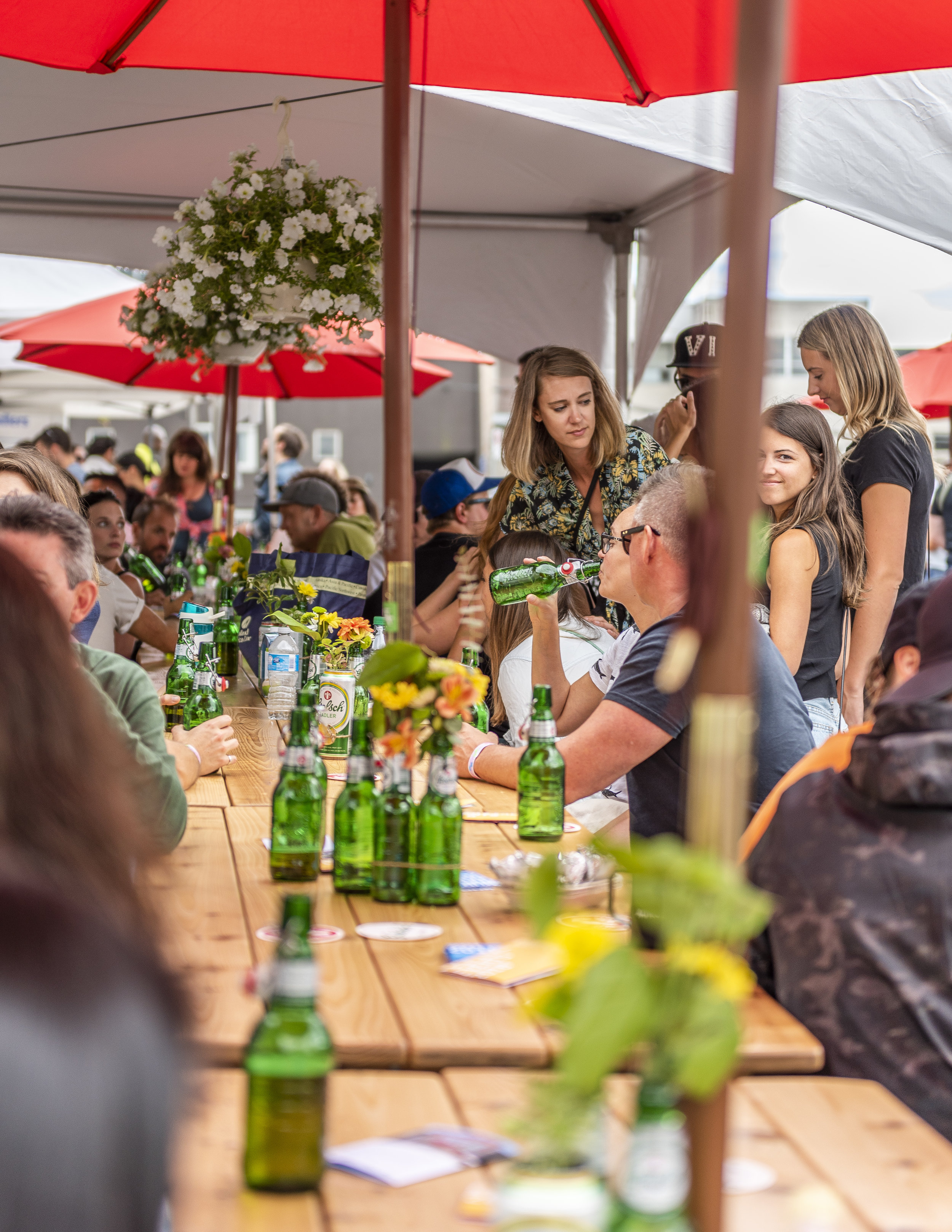 - Beer Gardens are and always have been a huge part of VMF. Yes, we love gathering people together into a 14 block span to celebrate and take part in the arts, but adding tasty beers to the mix just makes it that much better. This year we're bringing you FOUR all ages family friendly/dog friendly Beer Gardens to hang out in with a drink in hand all while taking in the surrounding live music, painting, markets, and interactive fun. Here is a breakdown of all you need to know in each one.Grolsch UNPOPPED Music LoungeWhere: Main and BroadwayWhen: 12PM - 7PMGrolsch has an impressive history behind their brewing, so naturally they'll be providing a Beer Garden of great caliber. Their UNPOPPED Music Lounge is all ages, family friendly is located conveniently central in the festival, making it impossible for you to not walk by it, so you may as well go in it! Live painting and a Music Lounge presented by AIR MILES® Stage Pass featuring local BC talent will be active all day so there is literally no time that wouldn't be a good time to be at the Grolsch UNPOPPED Music Lounge.
