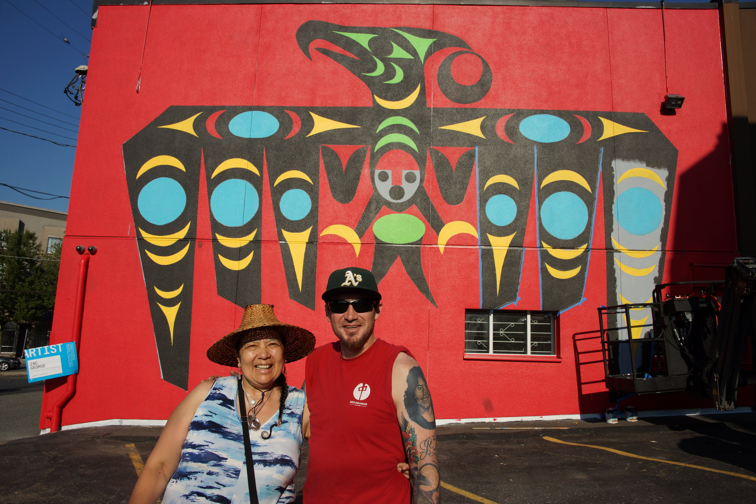While painting his mural, Zac ran into his Auntie who was participating in a VMF x SFU public talk just down the street. We happened to have a camera there and caught his auntie's proud moment.