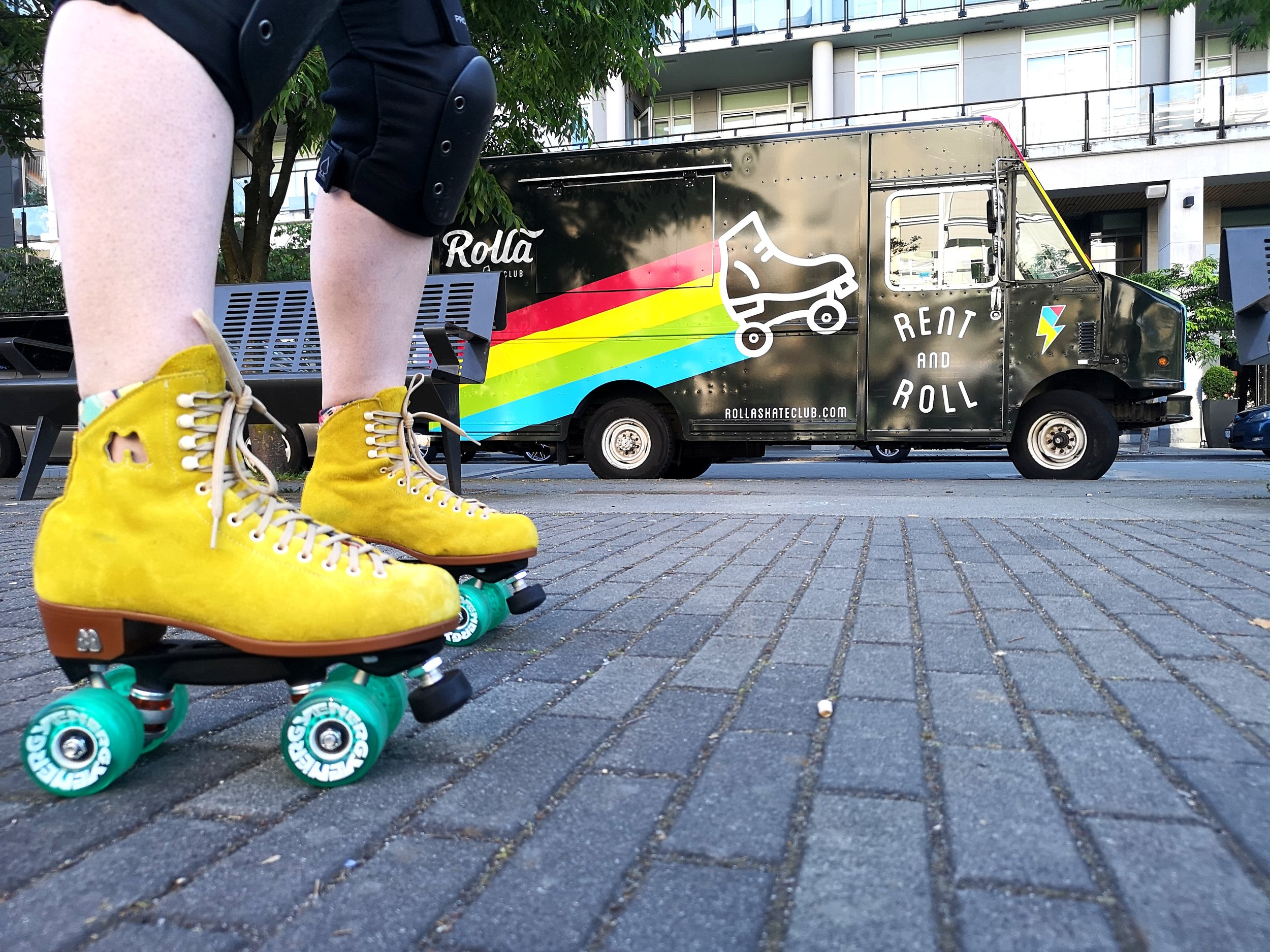 Pop Up Roller Rink - presented by Rolla Skate Club - Where: Main St. between 11th and 12th AveWhen: 3PM - 7PMBreak out of your shoes and into a pair of classic rollerskates with Rolla Skate Club, right in the middle of Main Street! Get your heart rate up and feel the wind in your hair as you roll and bounce to the sounds of the Main Stage DJs and artists. BYO skates, or rent for $10 from the Rolla Skate Truck. Maybe you'll bust out some tricks from your childhood (shoot the duck, anyone?) or learn some new ones from our jam skaters on site. Everyone is welcome, and protective gear is available (little kids should bring a bike helmet). Rolla Skate Club is a community of bad-ass women on wheels, and we hope you'll join the party!