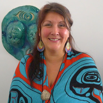 Roxanne Charles - 2018 Guest Curator    Nation:  Semiahmoo   Artists Selected:  Zac George (Tsleil-Waututh) , Andre Salaz, Ronnie Dean Harris (Stō:lo/St'át'imc/Nlaka'pamux), Atheana Picha (Kwantlen), Jordan Gallie (Tsleil-Wauthuth)  Roxanne Charles of Semiahmoo First Nation is a cultural historian implying means of visual representation, oral history, and ceremony. Methods which have been utilized by Semiahma People for thousands of years. Roxanne holds two undergraduate degrees from Kwantlen Polytechnic University and is currently completing her Master of Fine Arts at Simon Fraser University, Vancouver. Roxanne's work directly responds to a troubling colonial present and documents a variety of issues that reflect her life experiences such as spirituality, identity, urbanization, food security, resource extraction, trauma, and various forms of systemic violence.