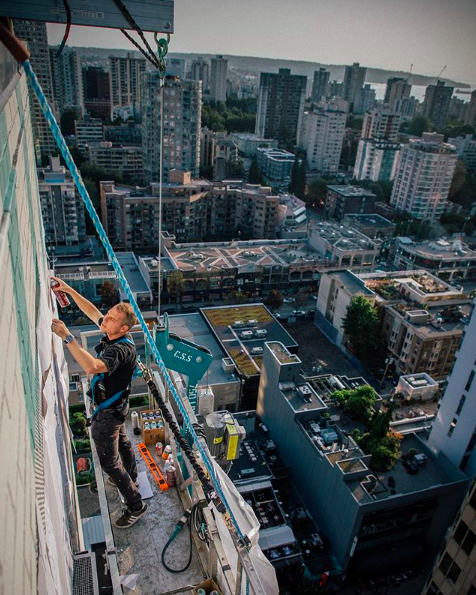 - We are so excited to see the final product of Shepard Fairey's 20 -storey environment themed mural on Burrard and Georgia, his biggest mural yet! Make sure to catch BAF's Facing the Giant: 3 Decades of Dissent exhibit, running from August 8th - September 28th.Photo by Jonathan Furlong