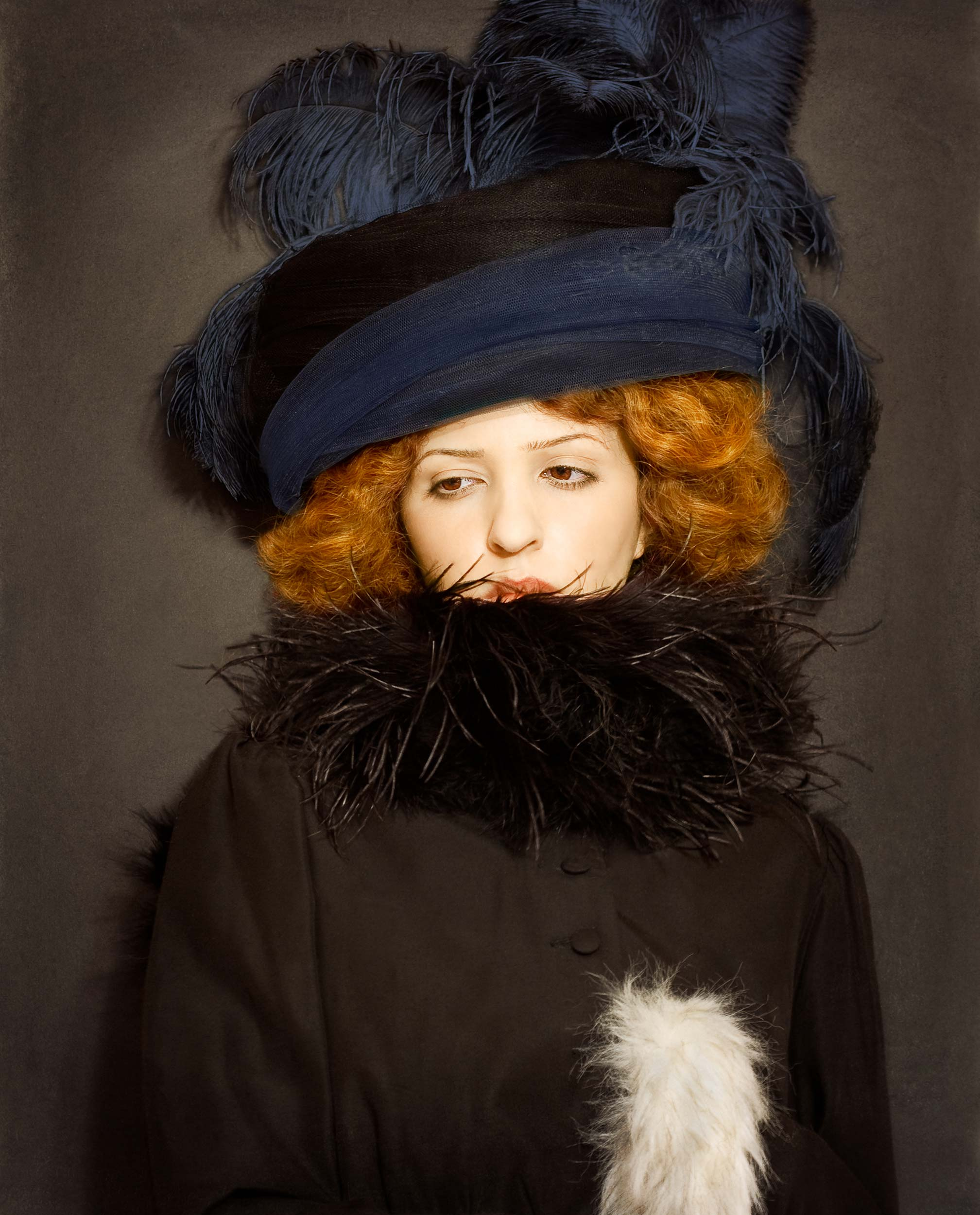 "Lady Hat <em>, 2010 <p>after ""Lady with Hat and Feather Boa"", Gustav Klimt, 1909</em>"
