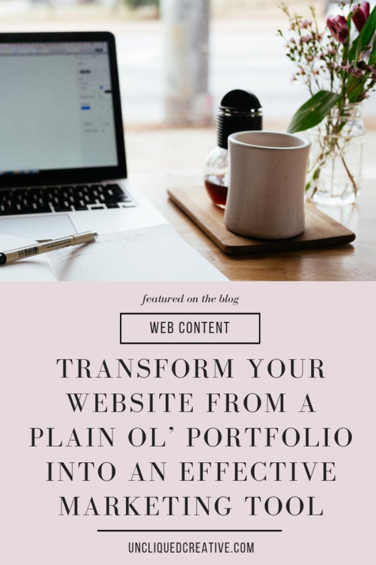 transform your website from a portfolio into a marketing tool