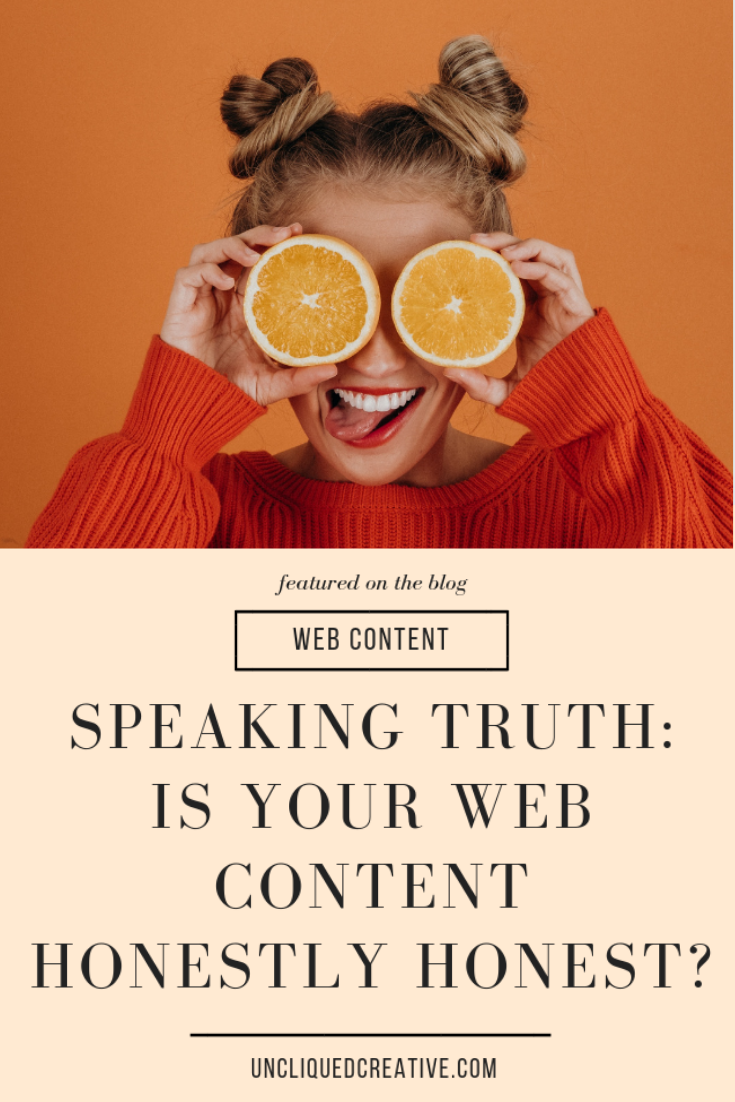 Speaking Truth is your web content honest