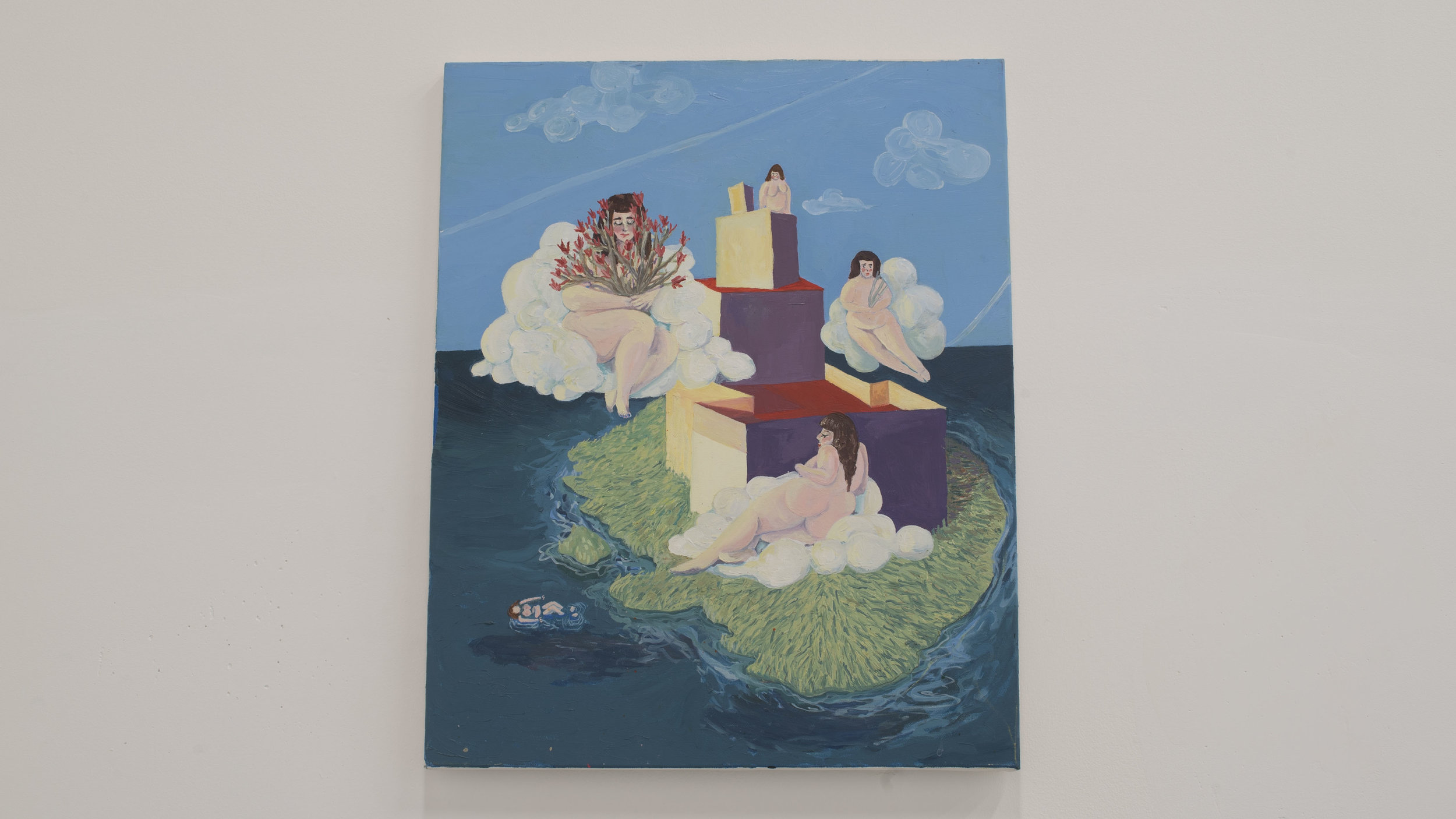 Cassie Massa   All Floating   Oil on canvas