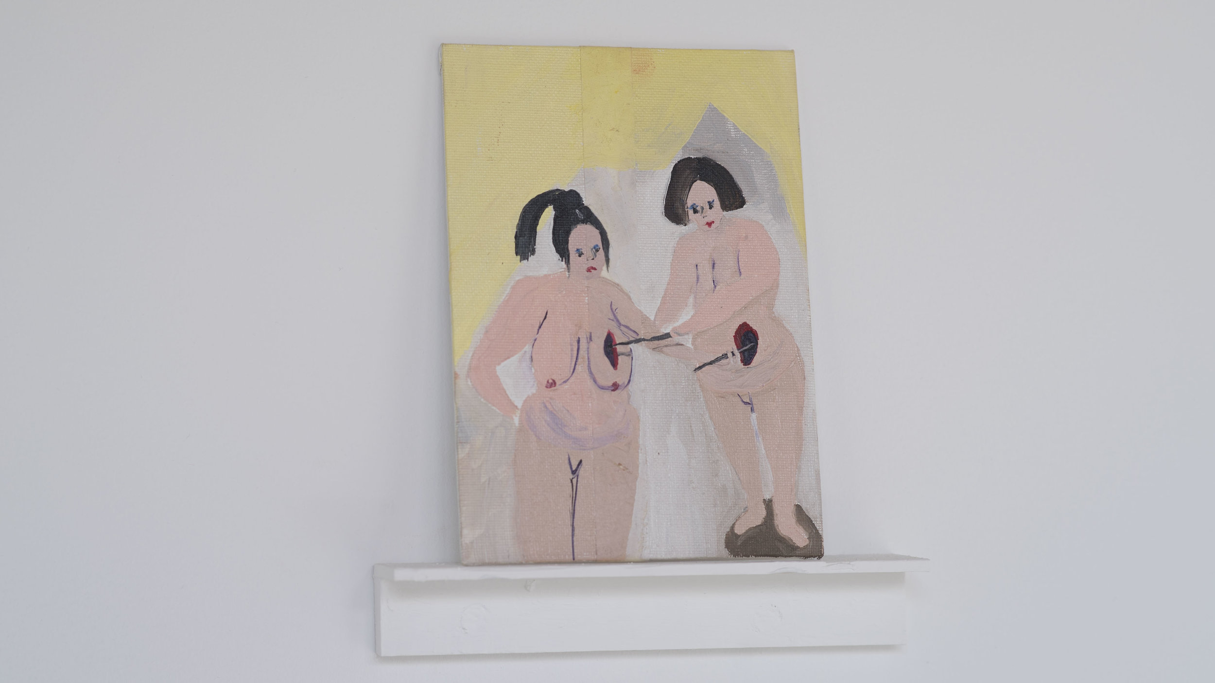 Cassie Massa   Where is It   Paint, panel, tape and wood