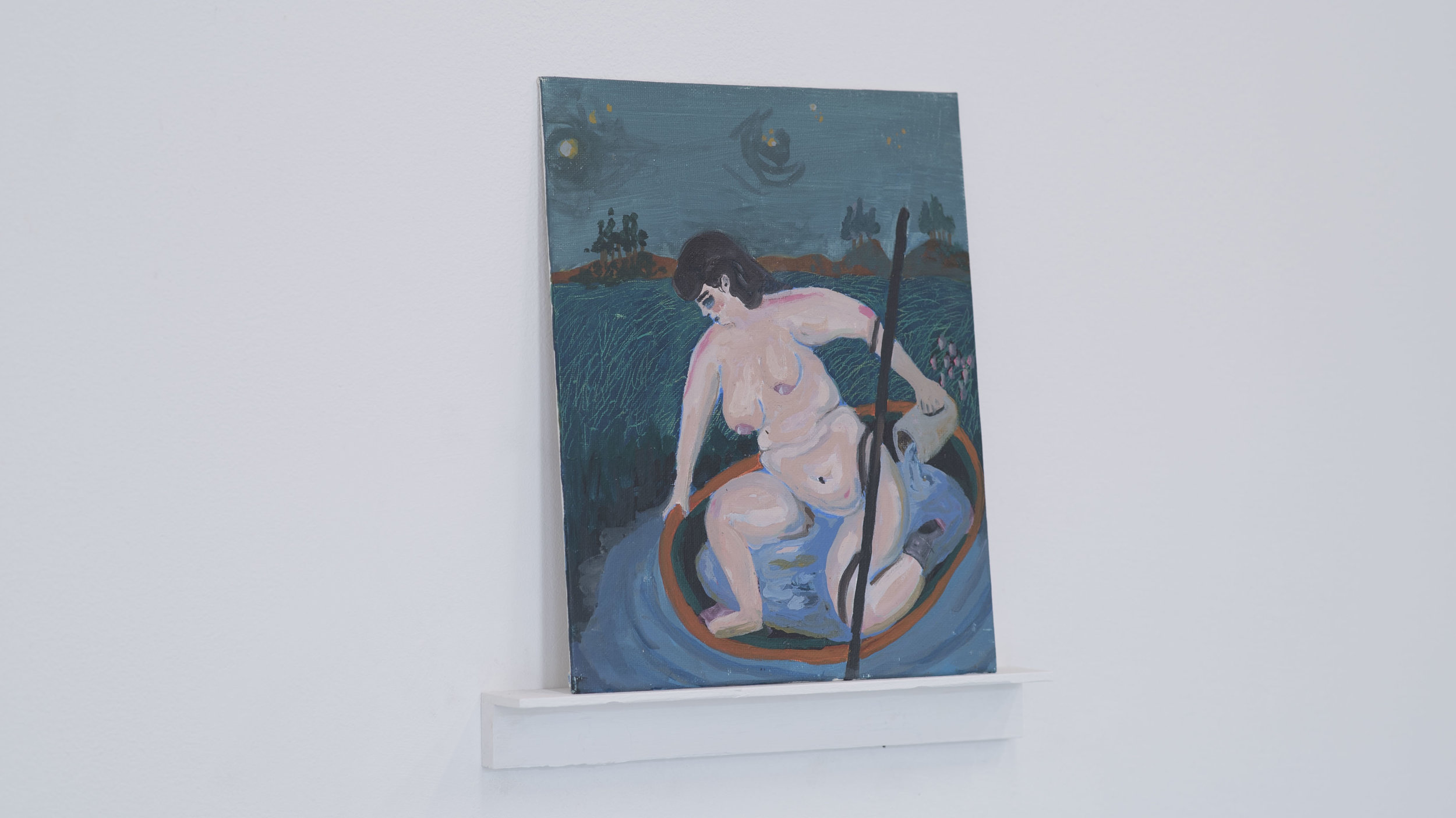Cassie Massa   Rescue From the Self Flood   Paint,pannel, wood