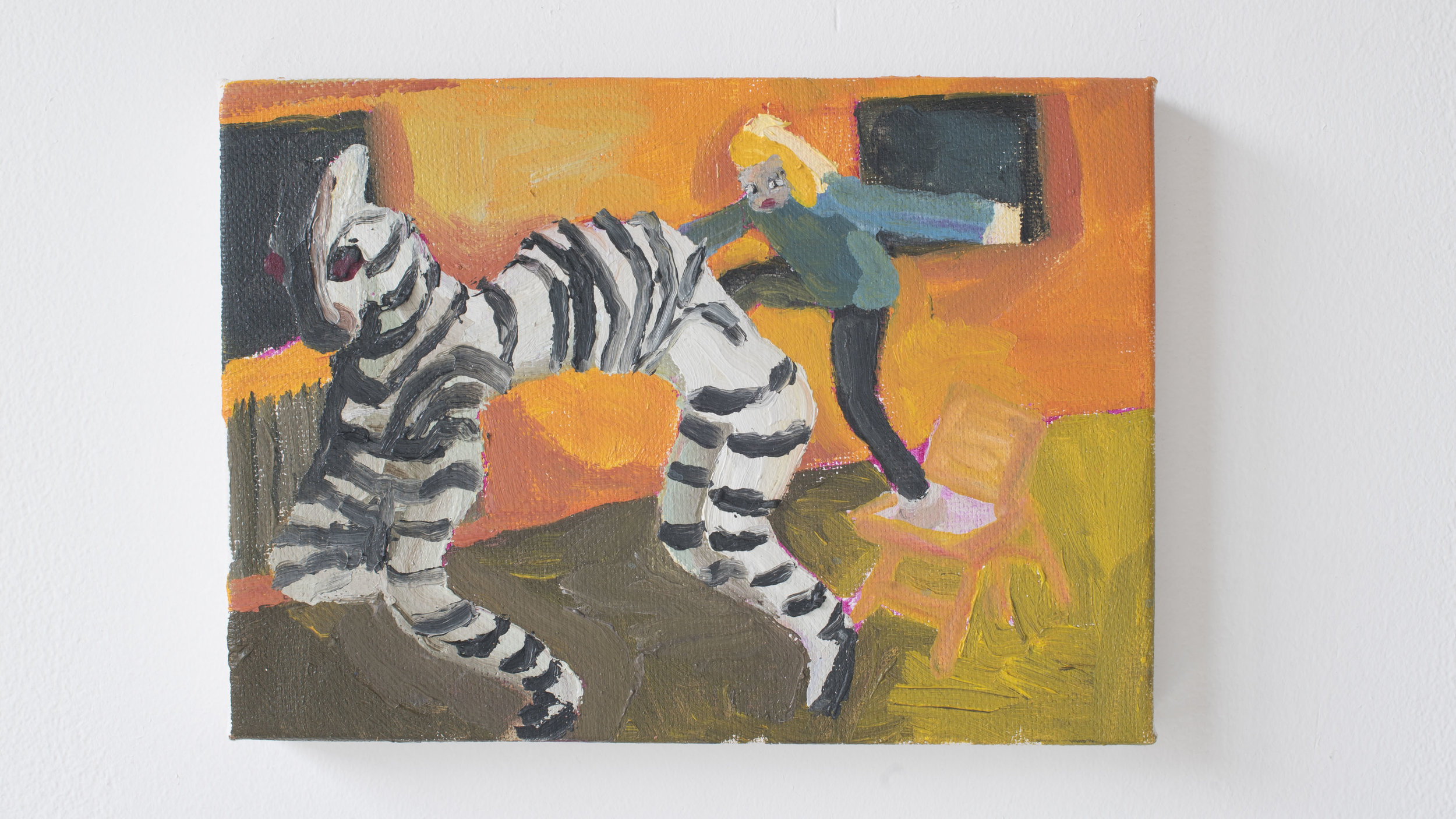 Cassie Massa   Equidae and Rider    Oil on canvas