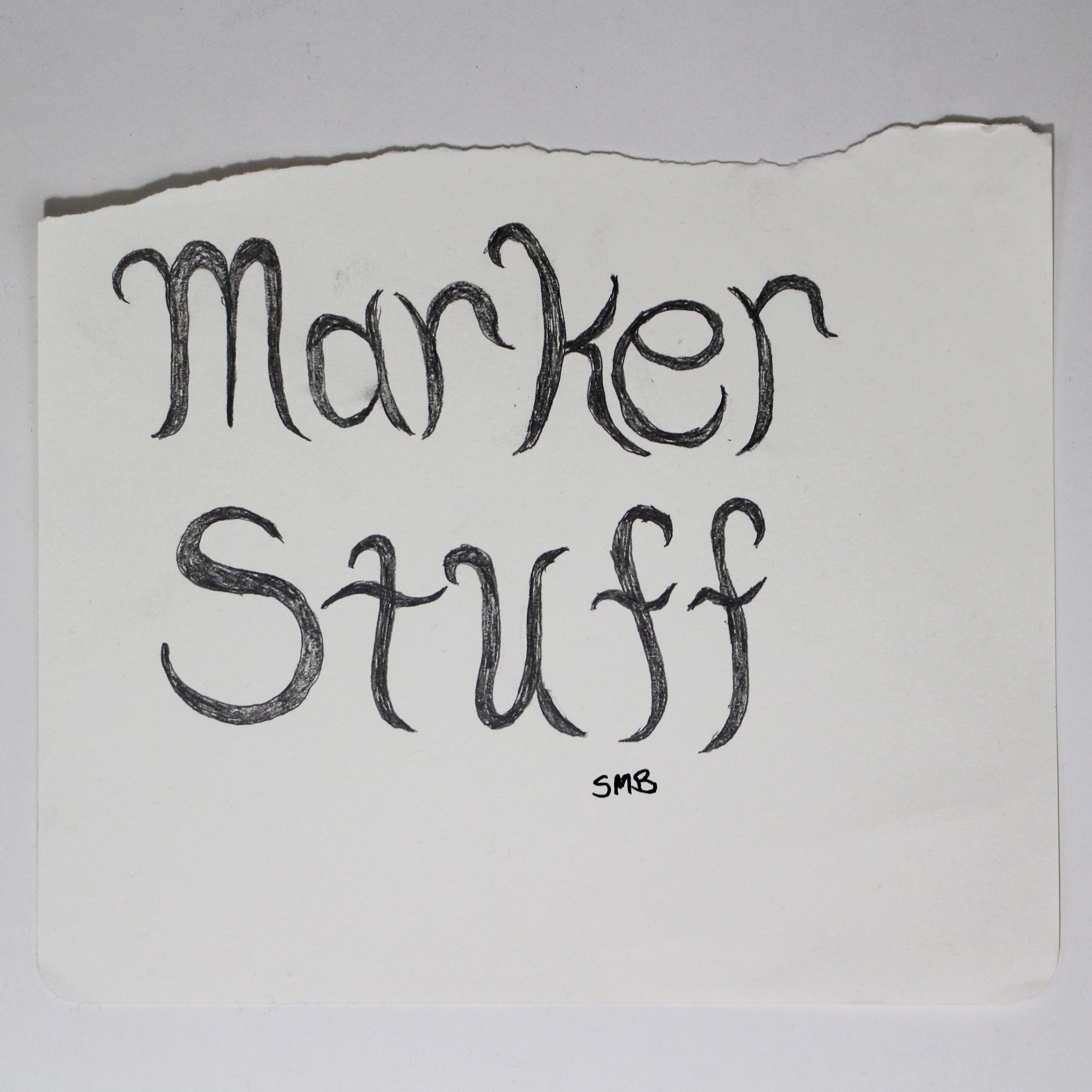 Scott's typography sketch!