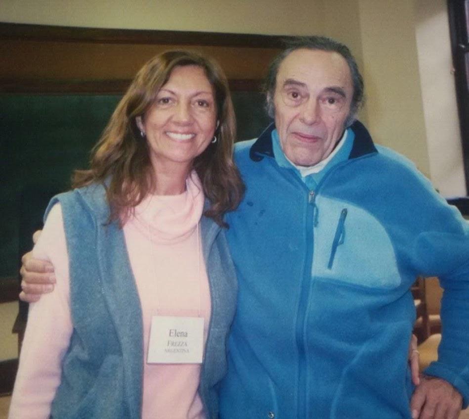 With Elena Frezza, c. 2009