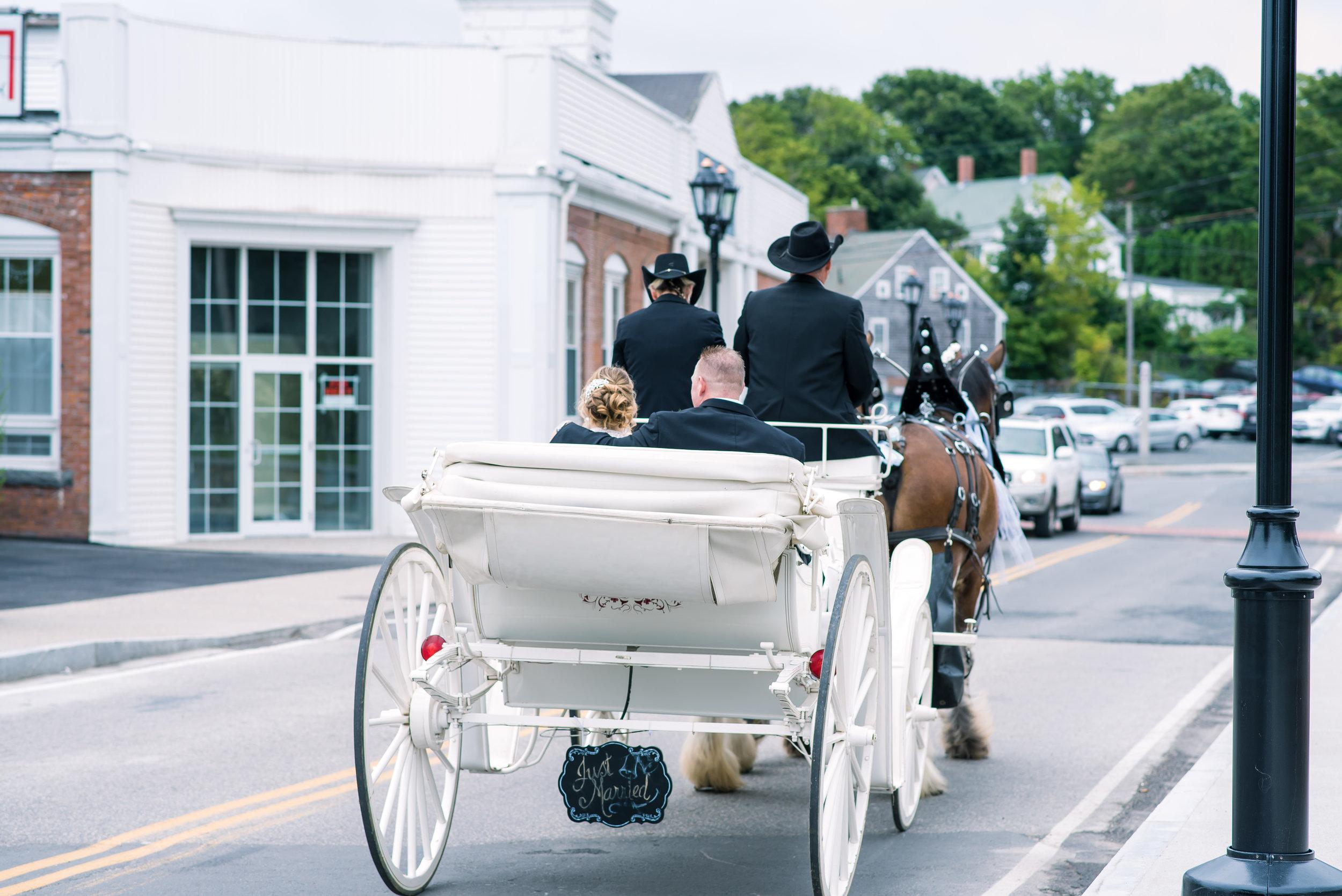 Bride and groom in Horse n Carriage (11 of 1).jpg