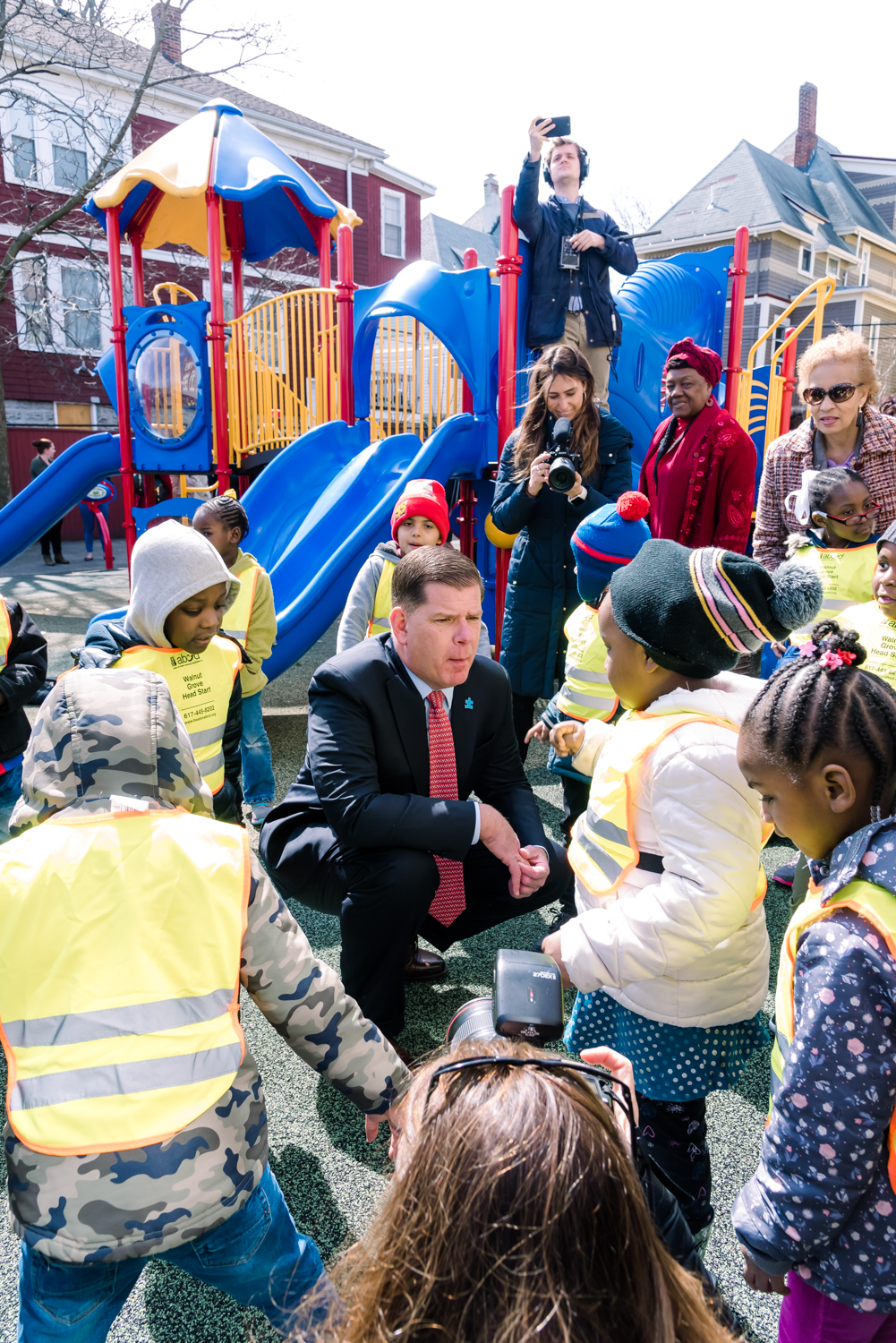 Mayor Marty Walsh engaging with the youngest audience after his press conference (20 of 1).JPG