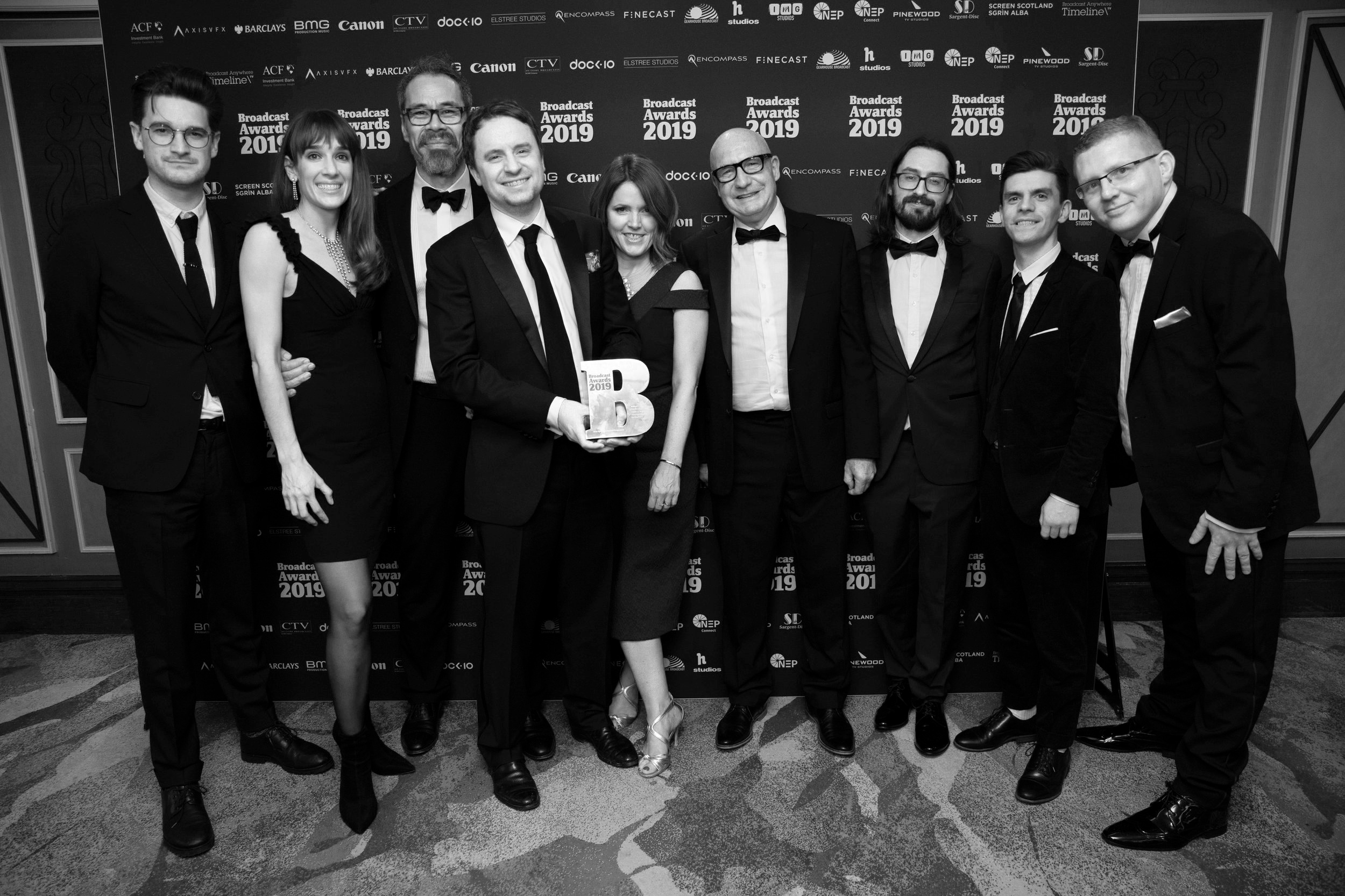 The Storyvault Films Team having won Best Specialist Factual Programme at the Broadcast Awards 2019.