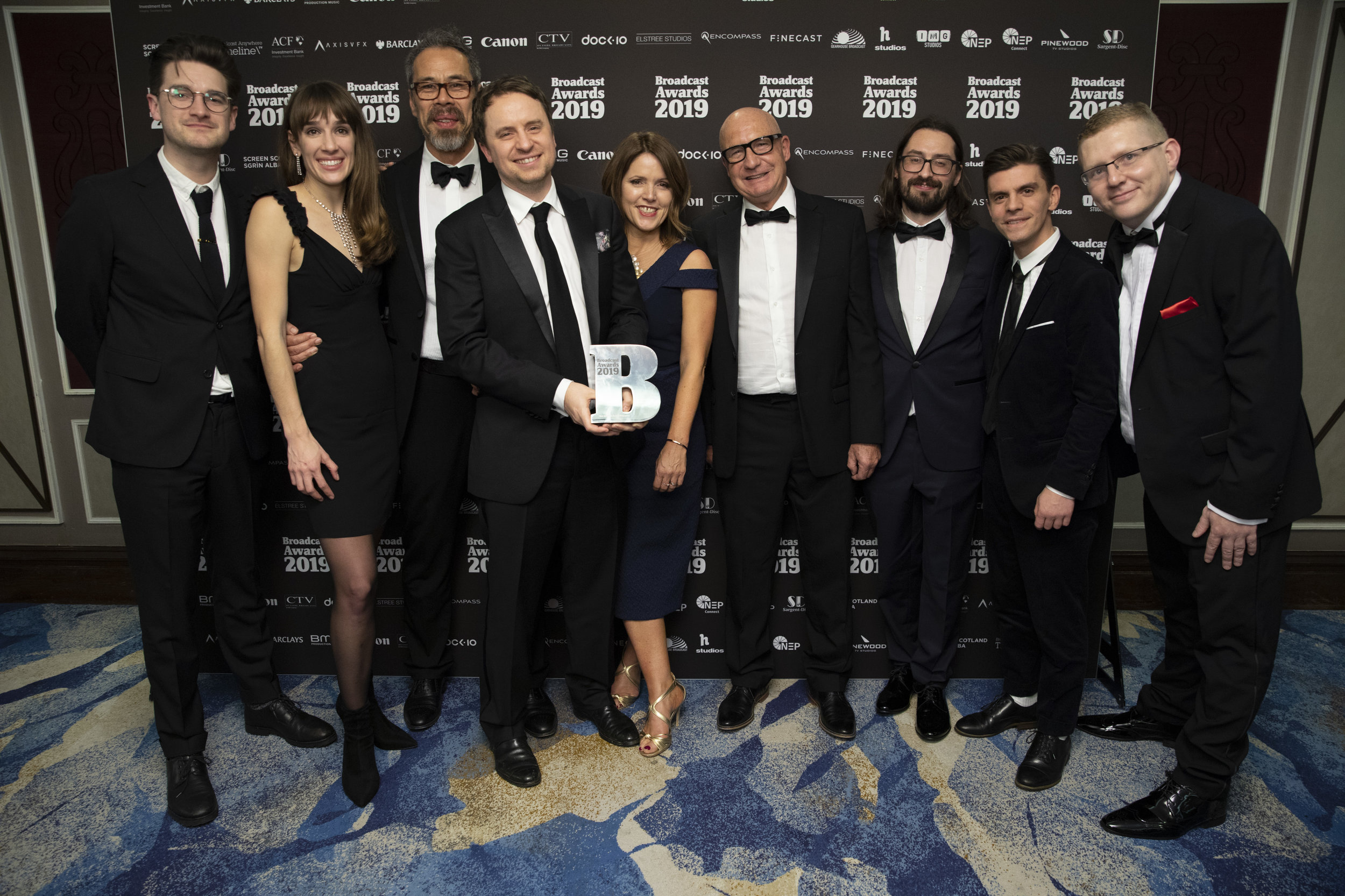Storyvault Films Team Photo, Broadcast Awards 2019