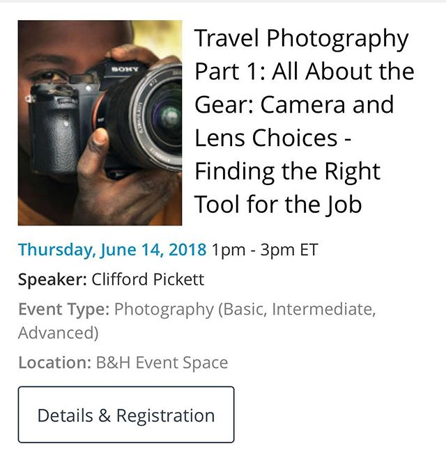 Hi all. I'm giving a live presentation @bhphoto @bheventspace at 1pm today. Come join!