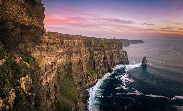 The #cliffsofmoher  I slept in my car by the cliffs for two nights waiting to get the right light. As the sun rose, With no one else in sight, it was a magical experience.  This original photo is a high resolution multi shot bracketed stitched  panoramic taken with the iPhone 8plus.