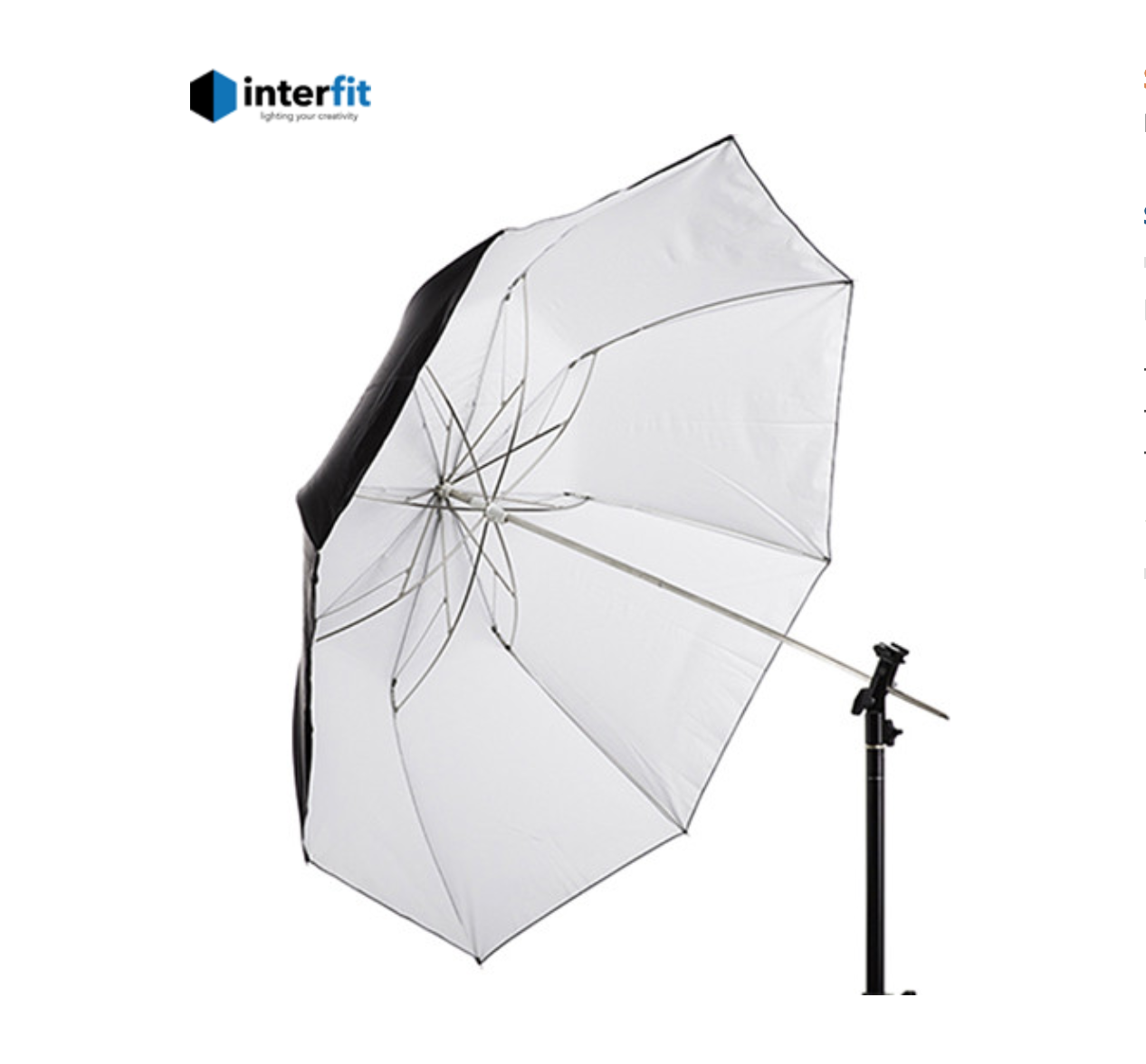 """Interfit 43"""" Trifold collapsible Umbrella -"""