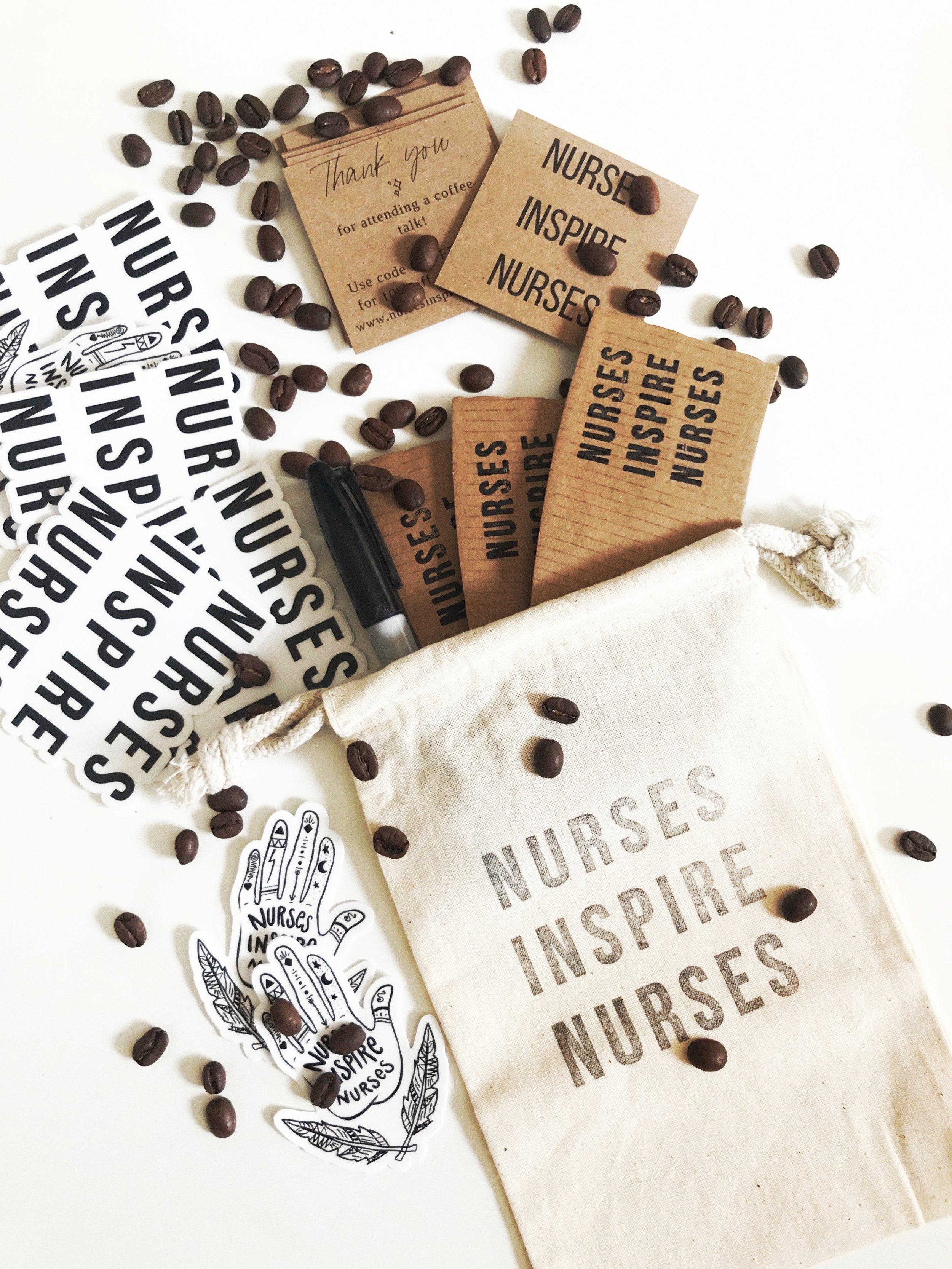 nurses inspire nurses candles, nurses inspire nurses tumblers, healing hands coffee, coffee mugs, leap land live method