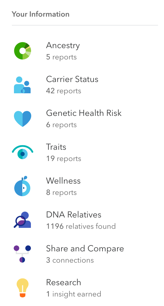 I love this sidebar navigation on 23andMe's site.